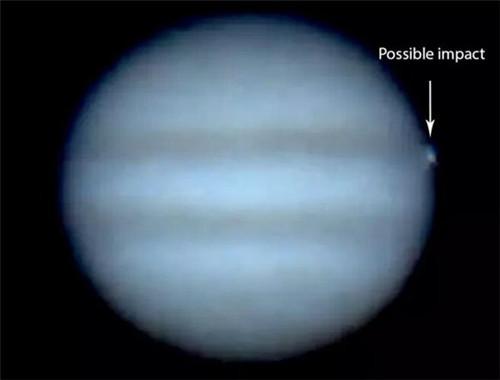 木星遭不明物体碰撞 天文学家:疑为小行星或彗星