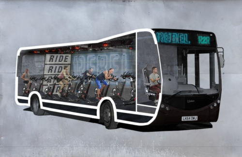 健身不能停:在伦敦,你可以边坐公交边运动(图)