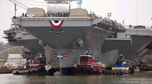 """外媒:美军最昂贵航母""""福特号""""仍不适合作战"""