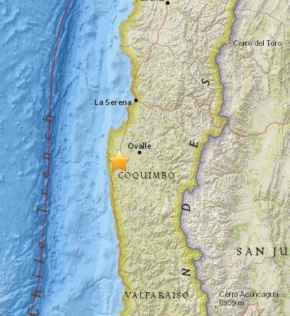 智利北部地区发生5.1级地震 震源深度40.3公里