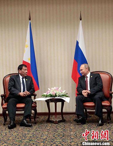 菲律宾总统杜特尔特会晤普京获邀访俄