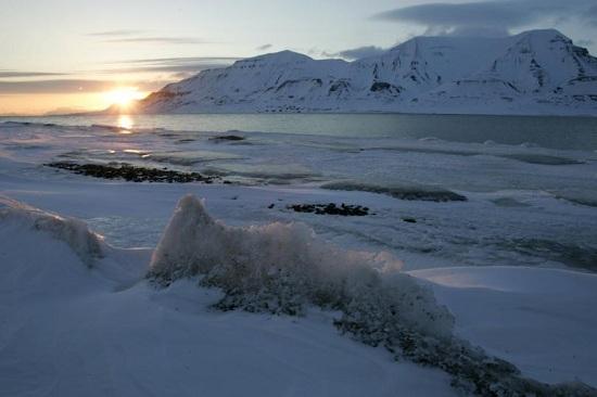 北极海冰面积再创新低温度升高海水无法结冰