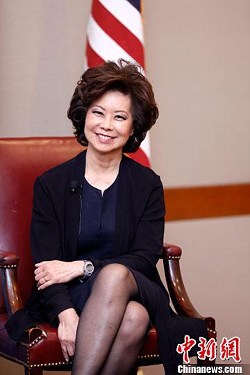 赵小兰获特朗普提名为美交通部长后首次公开露面