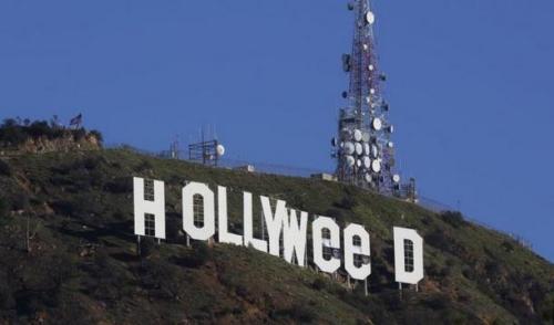 美国加州好莱坞山标志被恶搞警方目前正在调查(图)