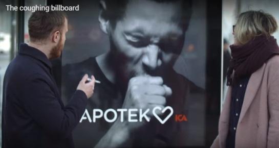 瑞典新创意:吸烟,广告上模特就咳嗽给你看(图)