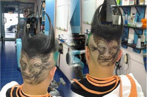"""泰国网友修剪""""牛气冲天""""发型庆祝儿童节(图)"""