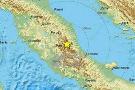 意大利中部1小时内连发3次5级以上地震暂无伤亡