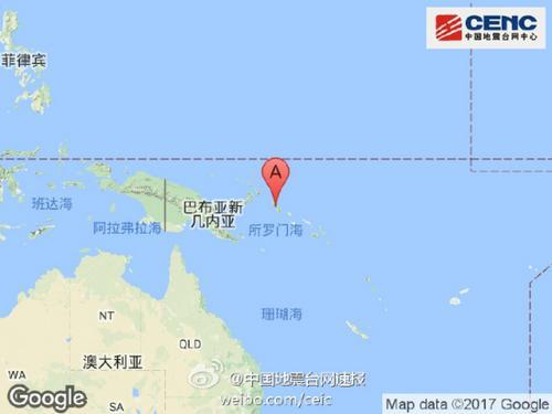 所罗门群岛附近发生8.2级地震