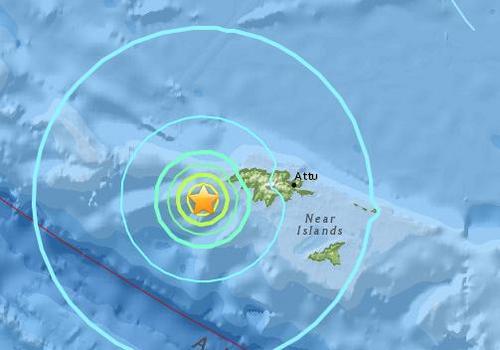 美国阿拉斯加阿图岛西部海域发生6.1级地震