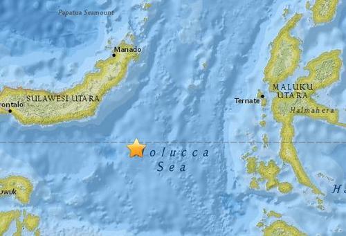 印尼苏拉威西岛海域5.3级地震震源深60.7公里