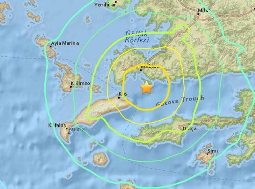 土耳其西南部发生6.7级地震震源深度10公里