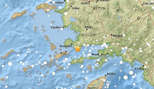 土耳其西南部海域发生5.3级地震震源深度10公里