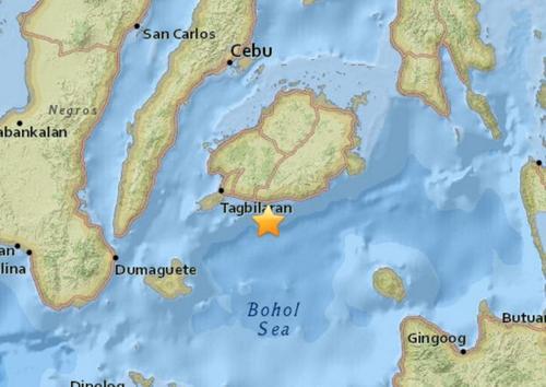 菲律宾保和海发生5.0级地震震中距宿务94公里