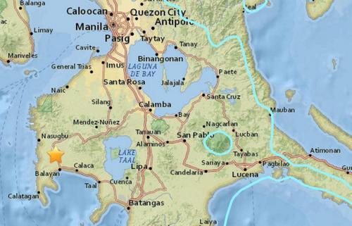 菲律宾吕宋岛发生6.2级地震震源深度168.2公里