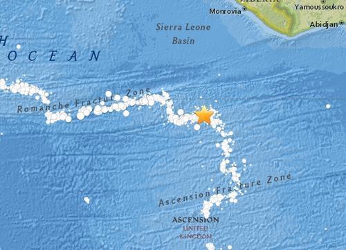 英属阿森松岛发生里氏6.8级地震未见人员伤亡