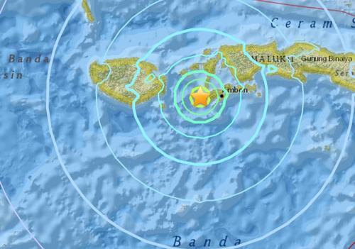 印尼塞兰岛附近发生6.3级地震震源深度32.4公里