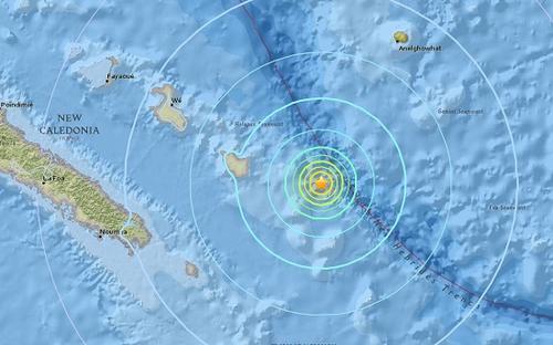 洛亚蒂群岛发生6.1级地震震源深度10千米