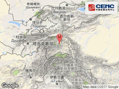 塔吉克斯坦发生3.8级地震震源深度126千米