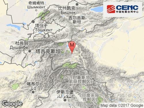 塔吉克斯坦发生4.6级地震震源深度7千米