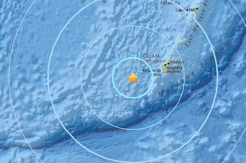 马里亚纳群岛附近海域发生5.8级地震