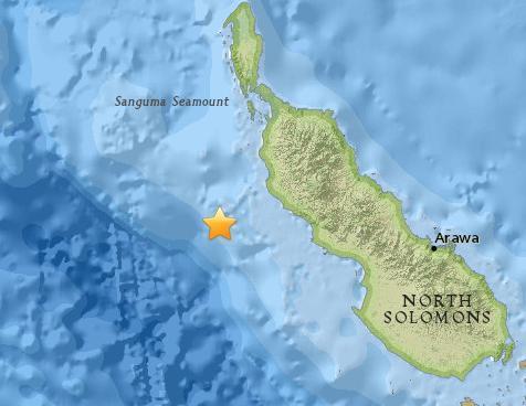 巴新东部海域发生5.4级地震震源深度57.8公里