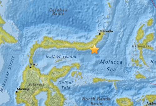 印度尼西亚海域发生5.1级地震震源深度98.6公里