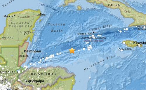 洪都拉斯附近海域发生7.8级地震可能引发海啸