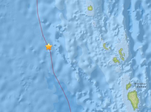 印度南部海域发生5.9级地震震源深度10公里