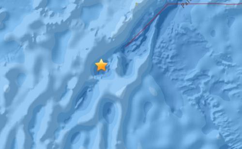 帕劳群岛西南海域发生5.0级地震震源深度10公里