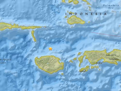 印尼附近海域发生6.1级地震震源深度11.9公里
