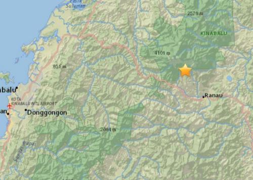 马来西亚沙巴发生5.2级地震震源深度10公里