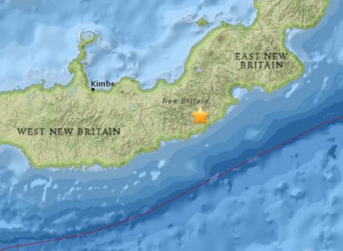 巴布亚新几内亚发生5.1级地震震源深度25.8公里
