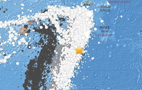 汤加群岛附近海域发生5.3级地震震源深度10公里