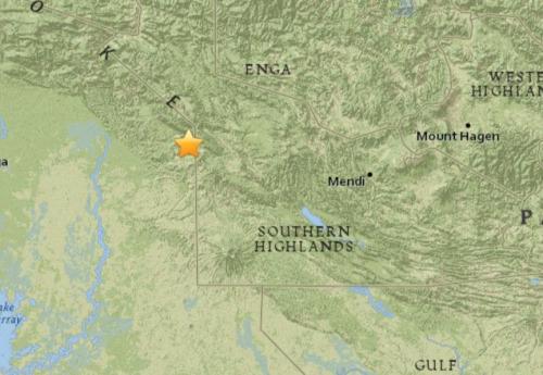 巴布亚新几内亚发生5.1级地震震源深度10公里