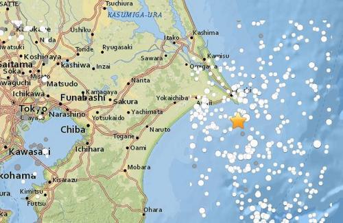 日本千叶县附近海域发生5.3级地震无海啸危险