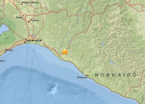 日本北海道南部发生5.0级地震震源深度29.9公里