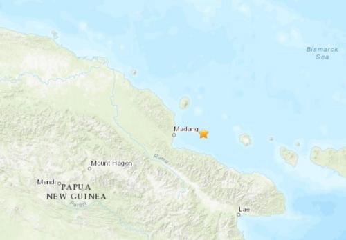 巴布亚新几内亚沿岸地区发生里氏5.0级地震