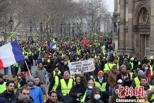 巴黎遭遇2019年首轮示威暴力事件再现