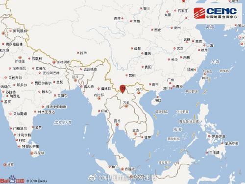 老挝发生3.3级地震 震源深度7千米