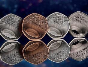 """英国皇家造币厂为致敬霍金 发行""""黑洞""""纪念币"""