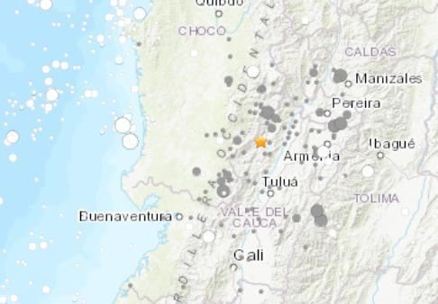 哥伦比亚发生6.1级地震未传出伤亡或损害灾情