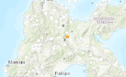 印尼苏拉威西岛发生5.4级地震震源深度10千米