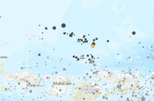 印尼西努沙登加拉省附近海域发生5.4级地震