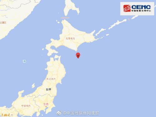 日本北海道地区附近发生里氏6.1级左右地震