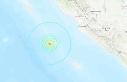 印尼西南部海域发生5.9级地震