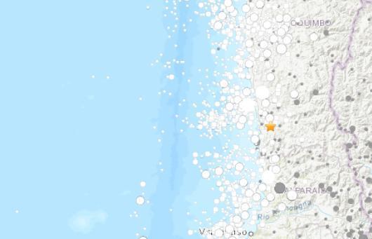智利西部沿岸地区发生6.0级地震震源深度49.1千米