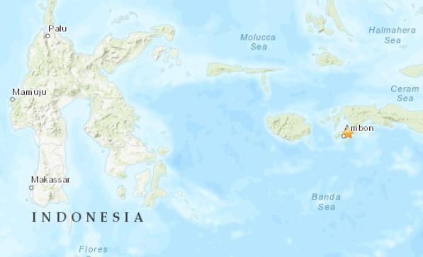 印尼安汶岛附近发生5.0级地震震源深度49.8千米
