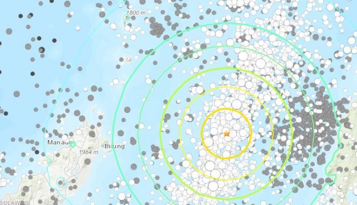 印尼海域7.1级强震:海啸预警已取消暂无损伤报告
