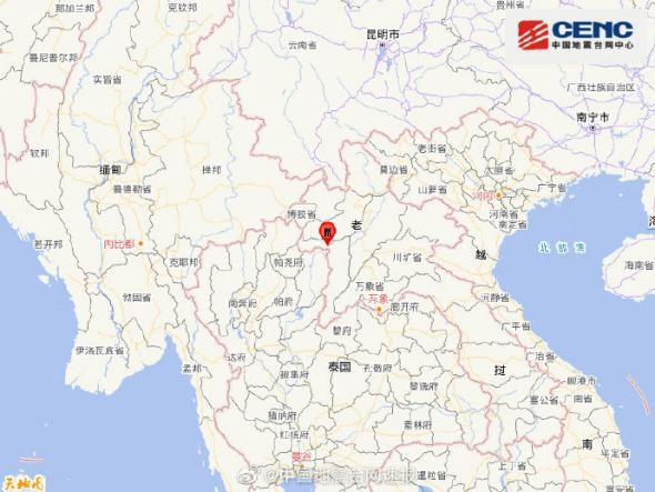 老挝与泰国边境地区发生5.8级地震震源深度10千米