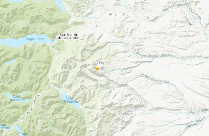 美国地质勘探局:阿根廷西部地区发生5.3级地震